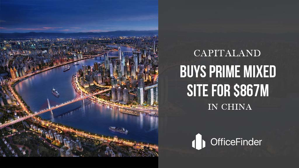 CapitaLand Buys Prime Mixed Site For $867m in China