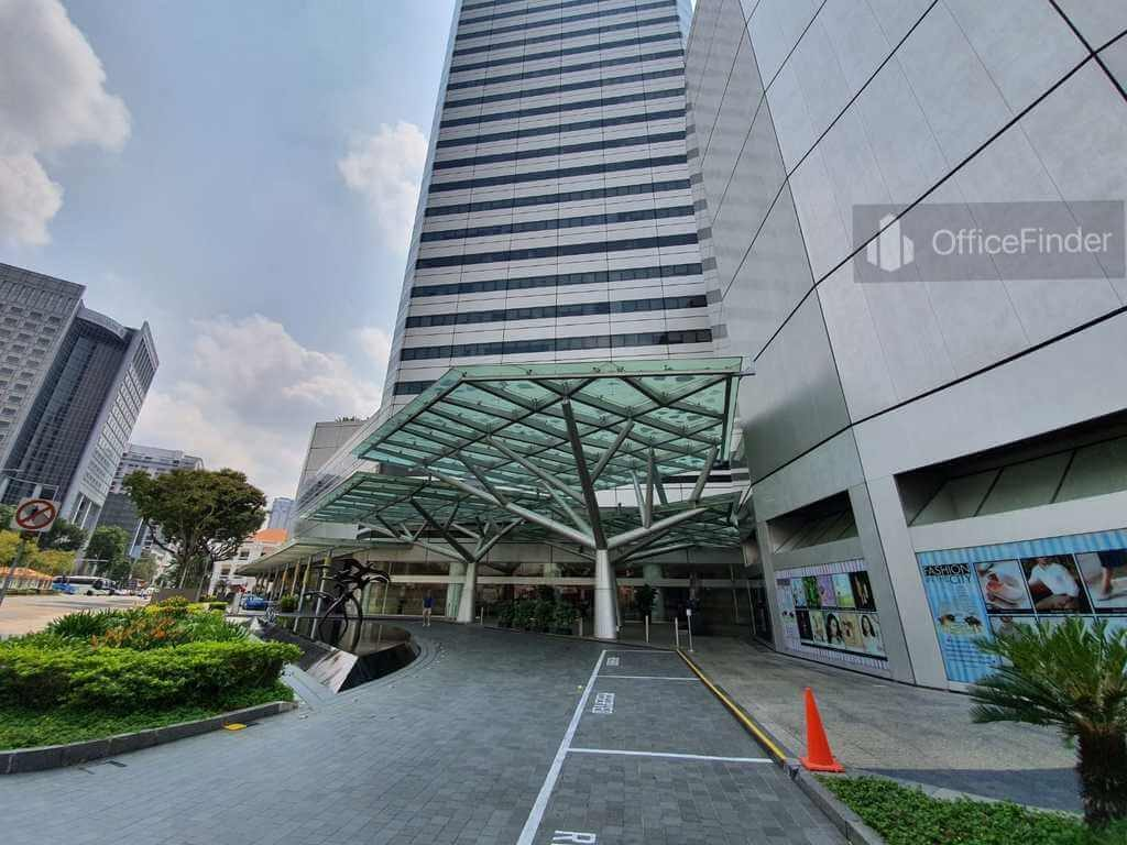 Raffles City Tower Building Entrance