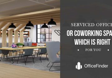 serviced office or coworking space