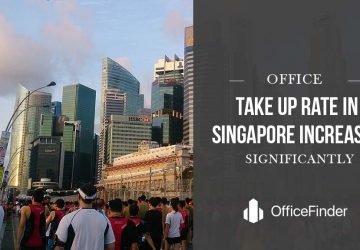 office take up rate in singapore increases significantly
