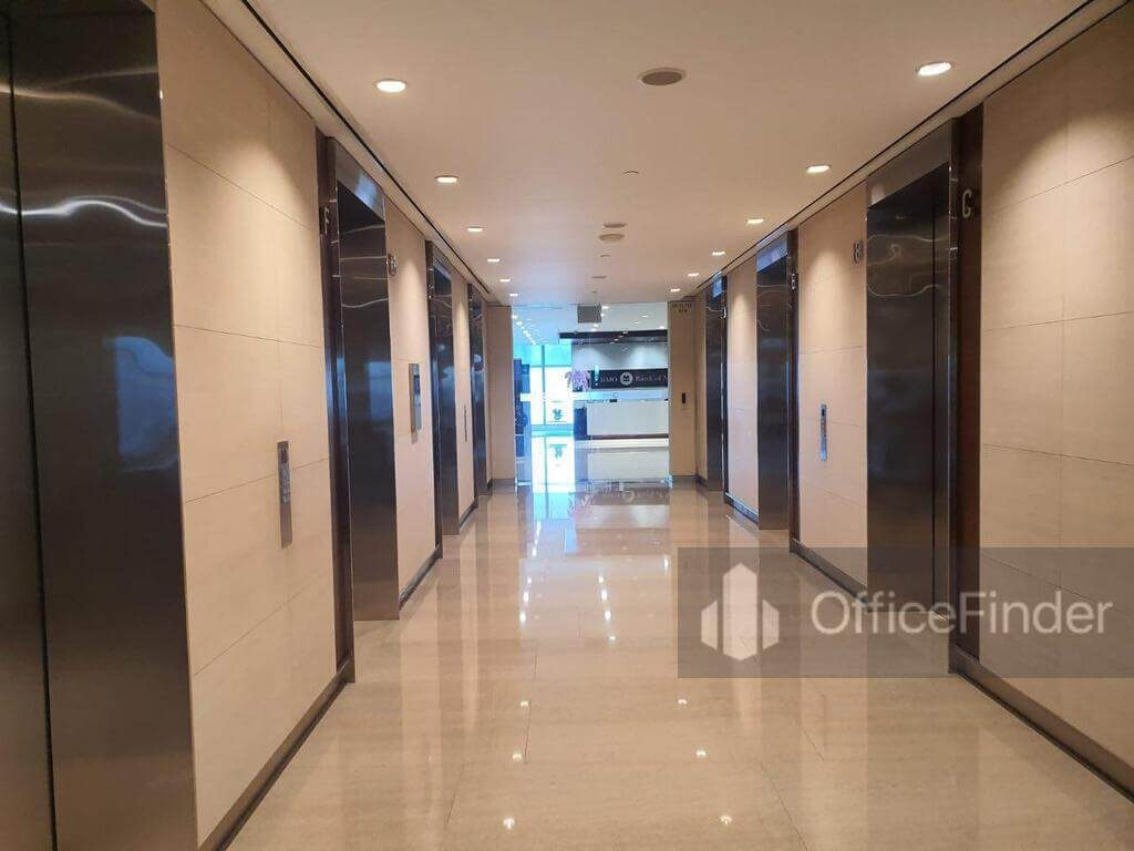 One Raffles Place Office Space Lift Lobby