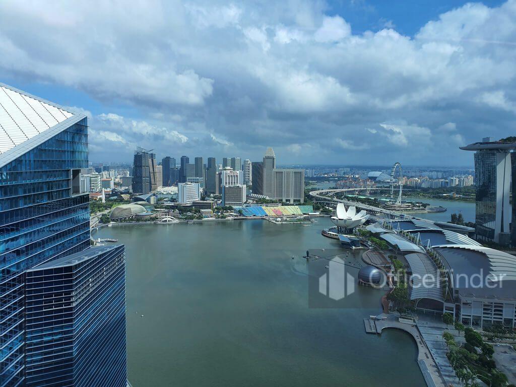 View of Marina Bay From Office at Marina Bay Financial Centre Tower 3 MBFC