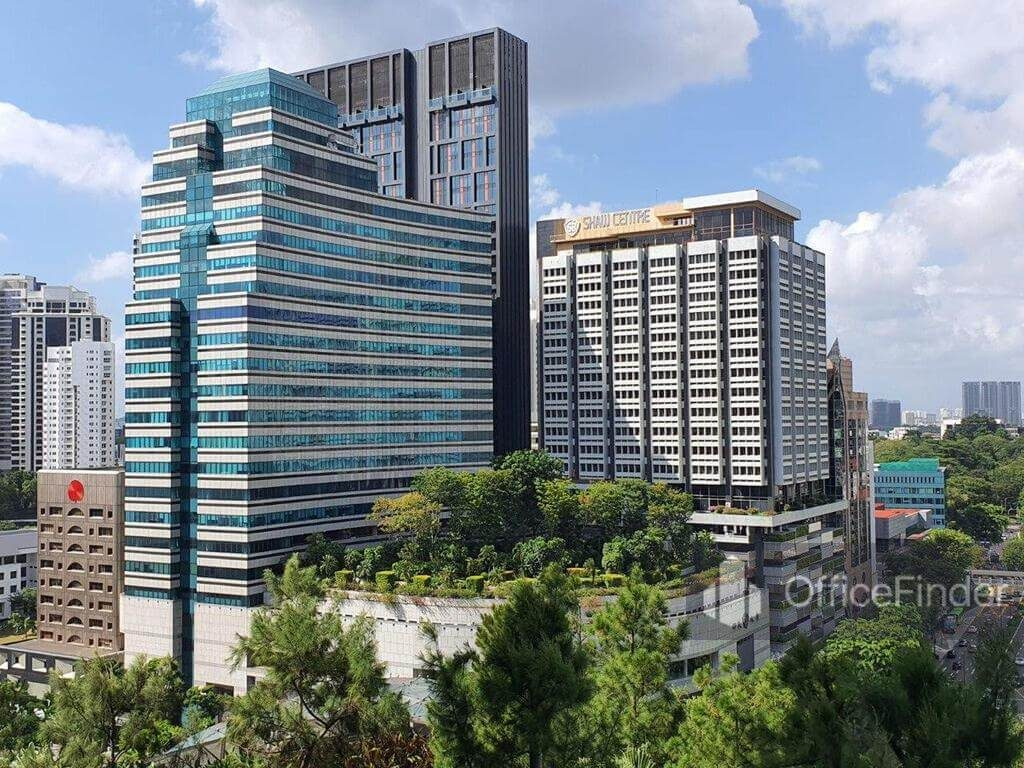 Shaw Office buildings on Orchard Road