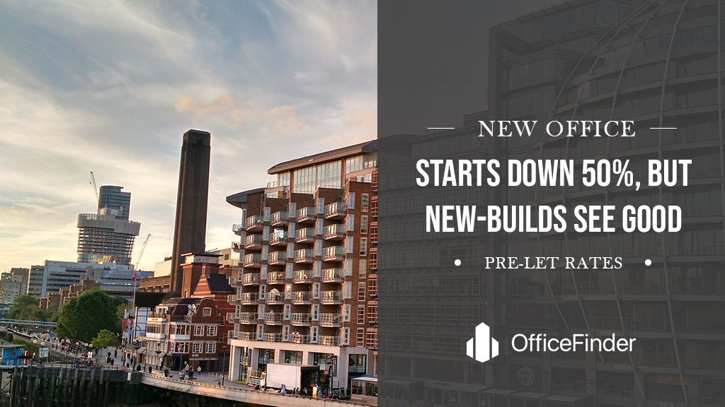 New Office Starts Down 50%, But New-Builds See Good Pre-let Rates