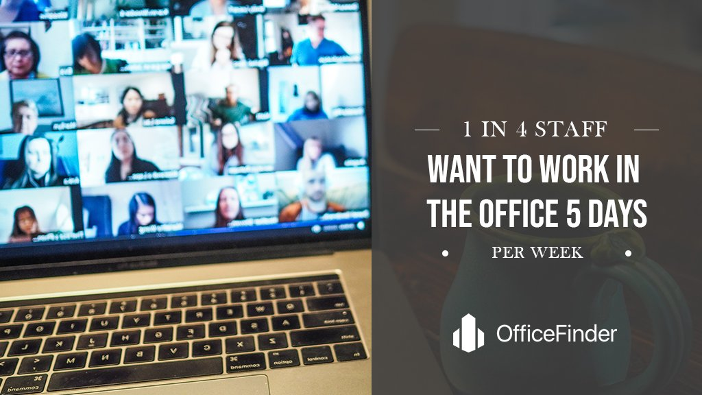 1 In 4 Staff Want To Work In The Office