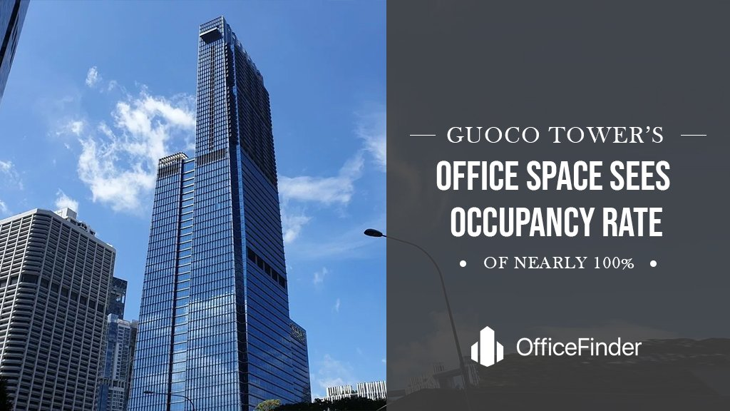 Guoco Tower's Office Space Sees Occupancy Rate Of Nearly 100%