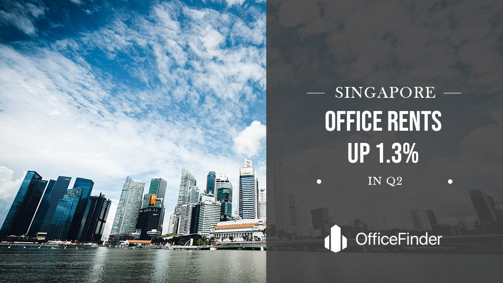 Singapore Office Rents Up 1.3% In Q2