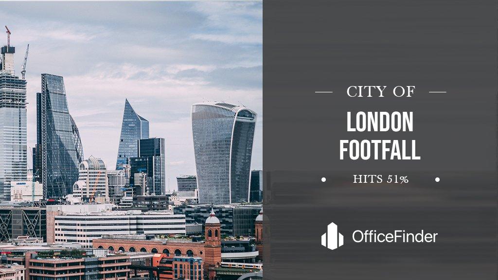 City Of London Footfall Hits 51%