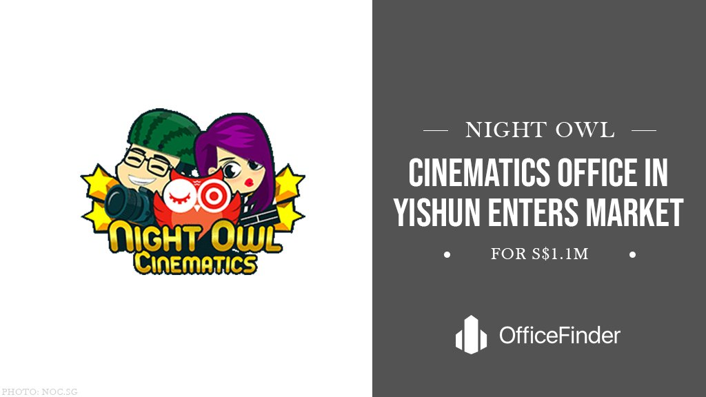 Night Owl Cinematics Office In Yishun Enters Market For S$1.1m