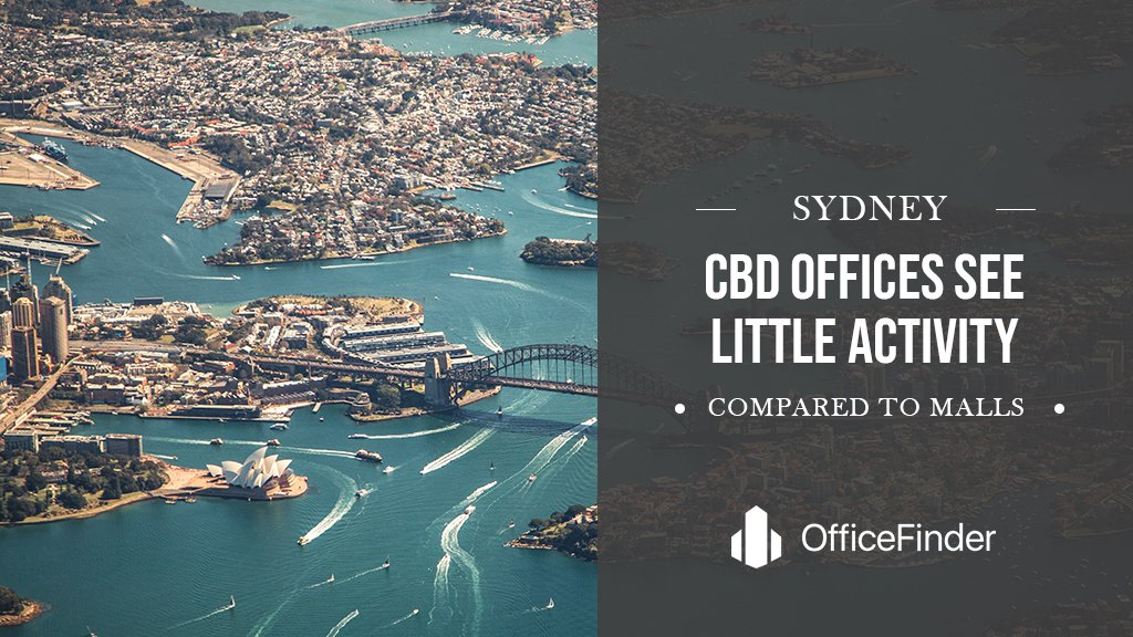 Sydney CBD Offices See Little Activity Compared To Malls